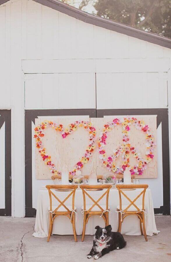 decoração de mini wedding simples em casa Foto Home Fashion Trend