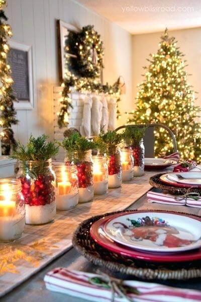 decoração de natal para sala iluminada