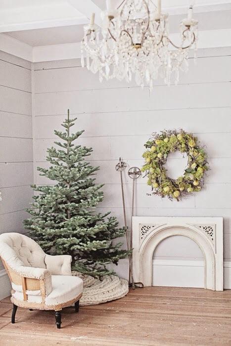 decoração de natal para sala de estar clean