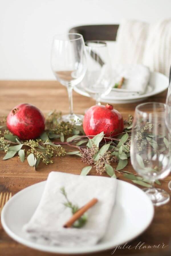 Decoração de natal para sala de jantar