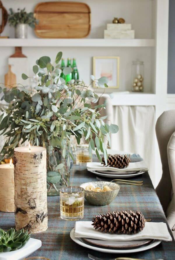 Decoração de natal para sala de jantar simples e bem decorado