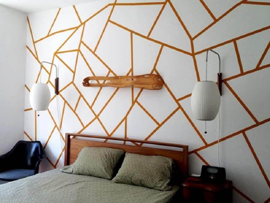decoração de quarto com fita isolante Foto Revista Artesanato