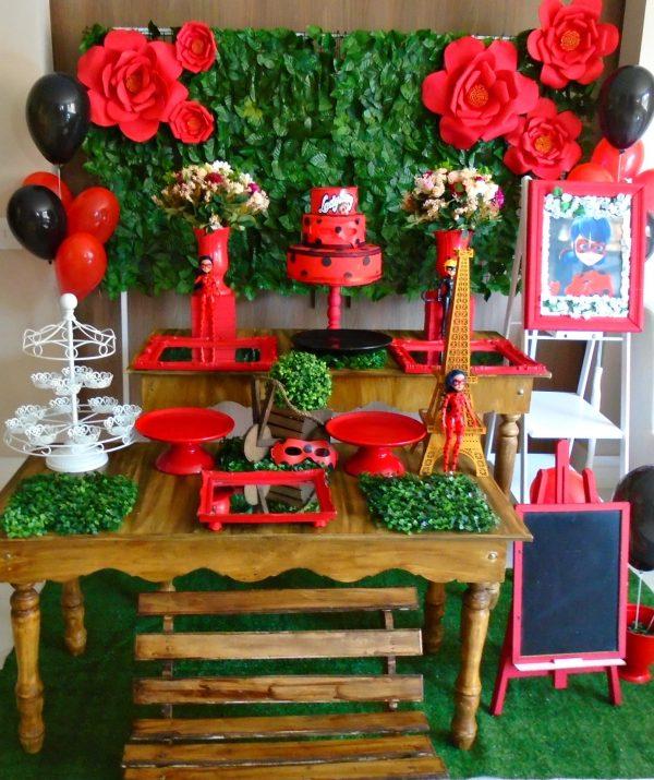decoração de festa ladybug cores