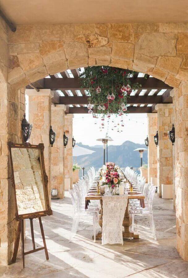 decoração mini wedding rústico Foto California Wedding Day
