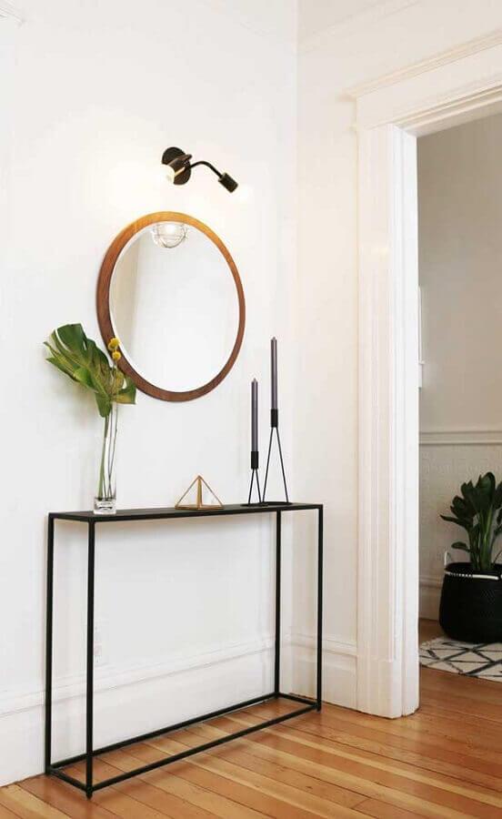 decoração minimalista para aparador com castiçal de vela Foto Pinosy