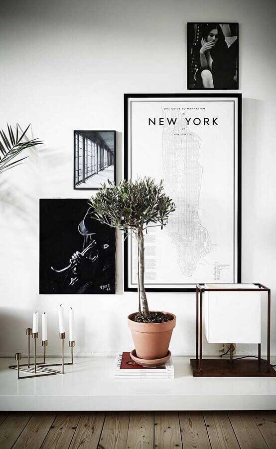 decoração moderna com castiçal de velas Foto Behance