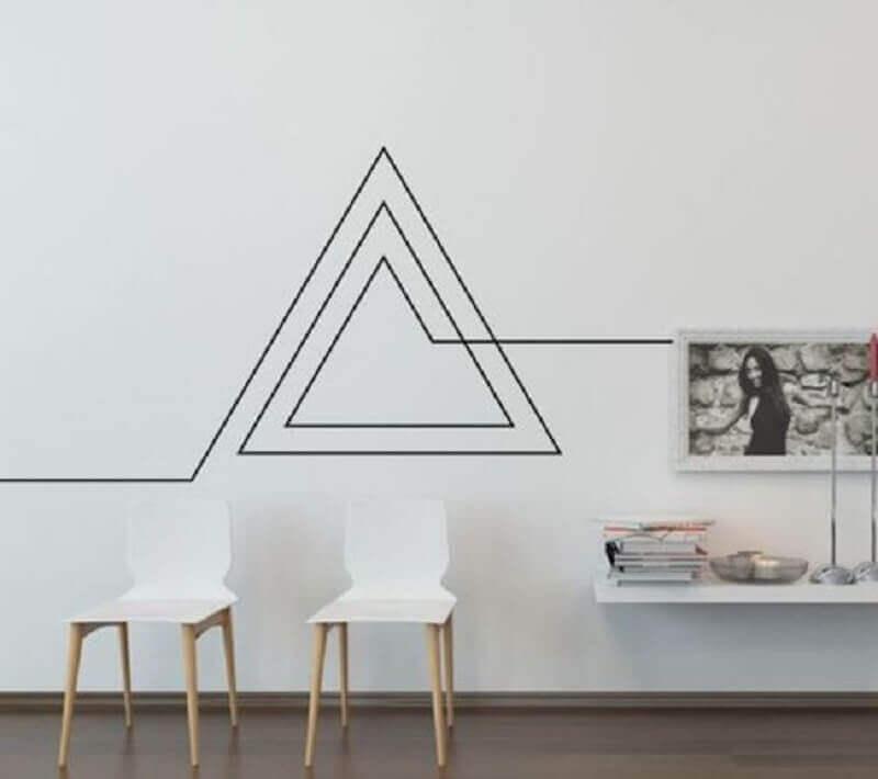 decoração moderna com fita isolante preta Foto Casa e Festa