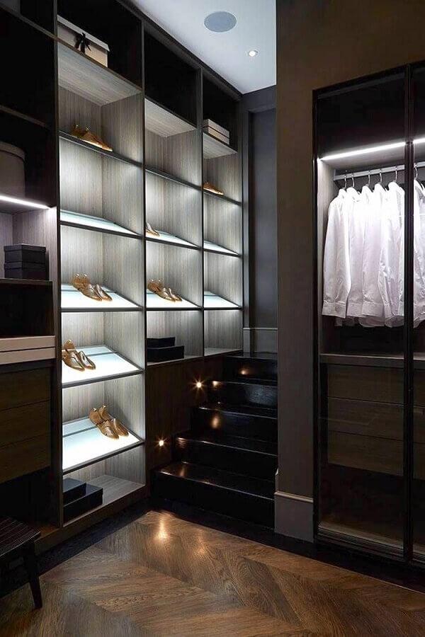decoração moderna para closet luxuoso preto Foto Home Interior Design