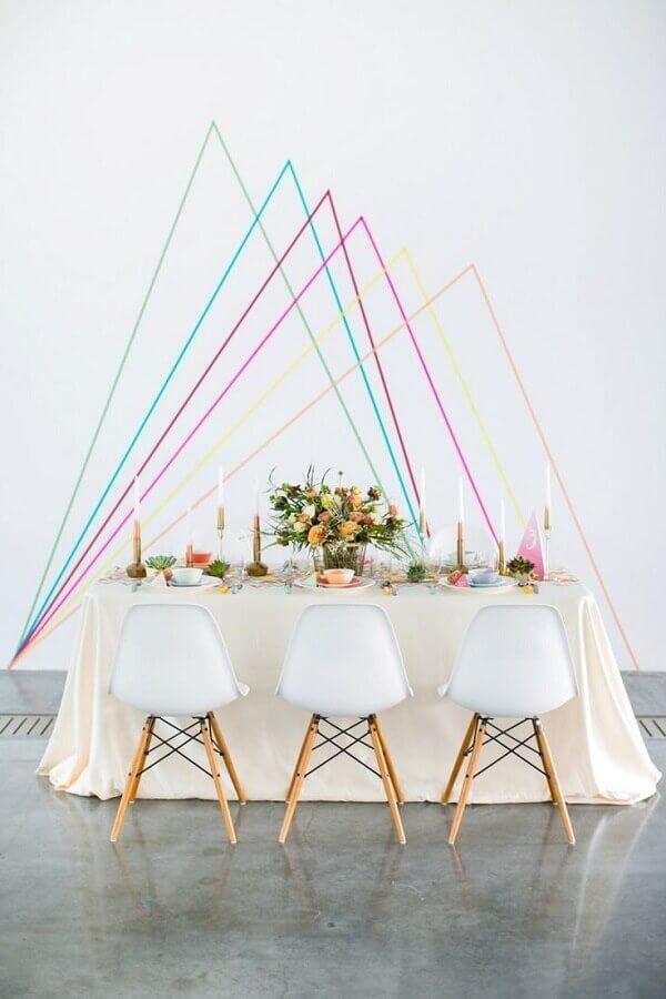 decoração moderna para mini wedding Foto Weddbook