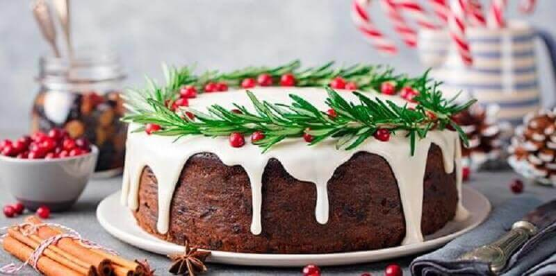 decoration for simple Christmas cake Photo Cake Stand