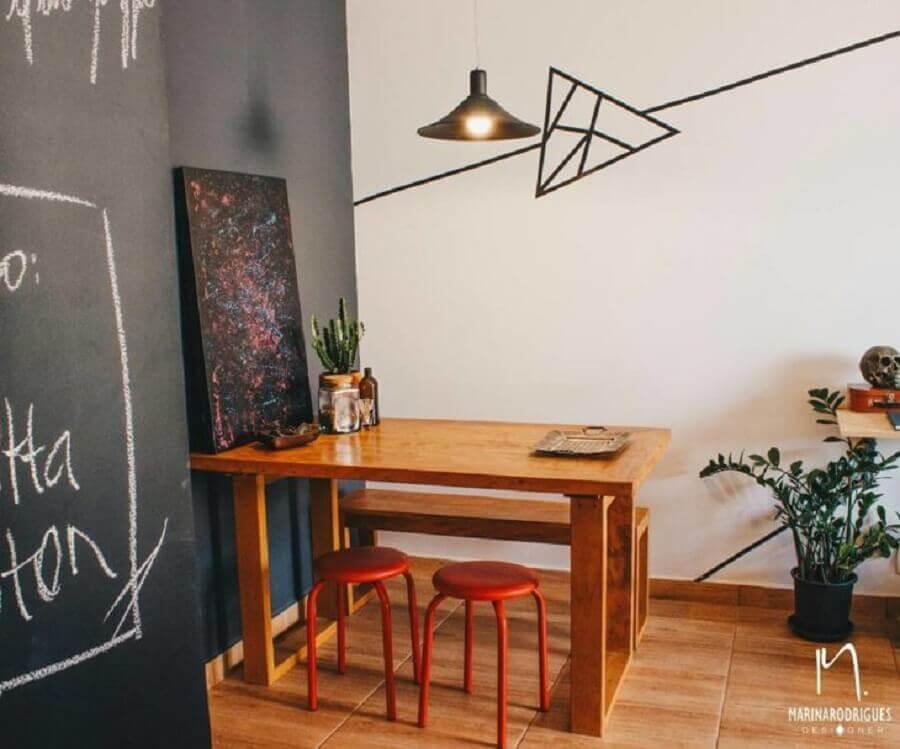 decoração simples com fita isolante para de jatar simples Foto Marina Rodrigues