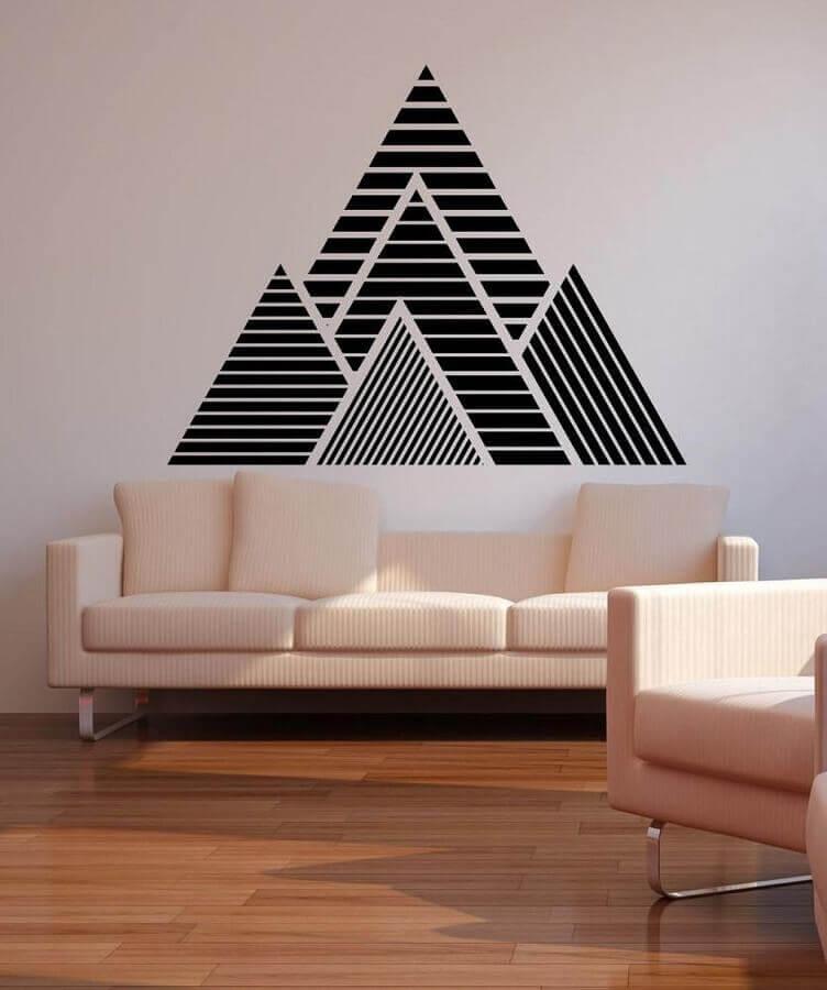 decoração simples com fita isolante para sala de estar Foto Casa e Festa