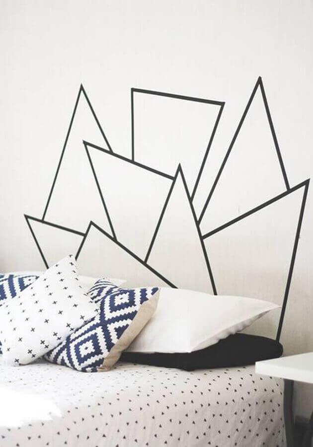 decoração simples de quarto com fita isolante preta Foto Ideias de Casa