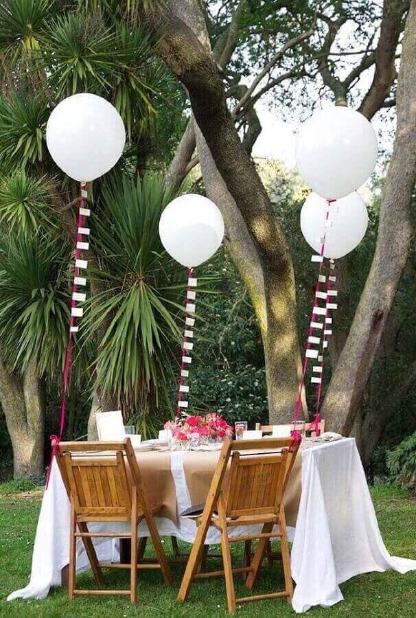decoração simples para mini wedding ao ar livre Foto Neu dekoration stile