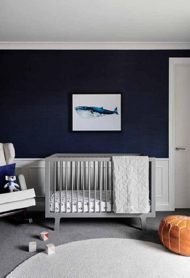 decoração simples para quarto de bebê azul marinho Foto Pinosy
