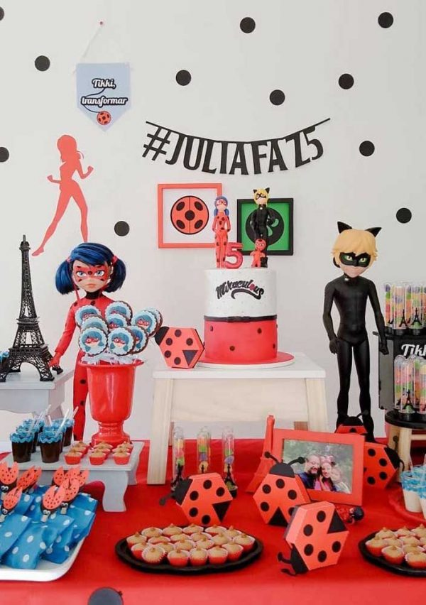 Festa de aniversário Ladybug e Cat Noir