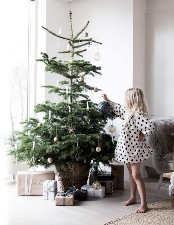 decoração de natal para sala de estar simples e barata