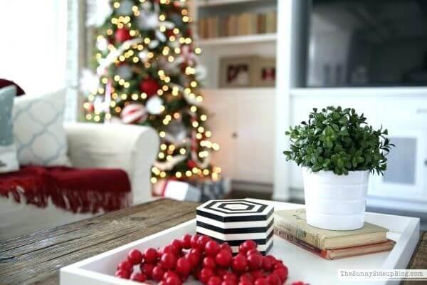 decoração de natal para sala de estar
