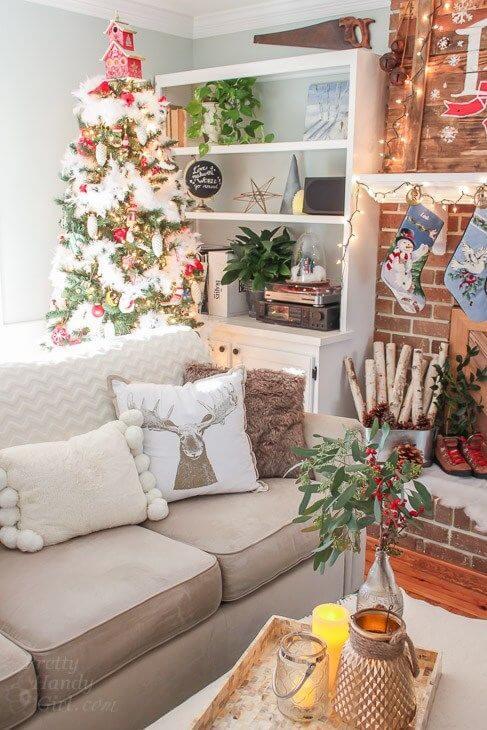 decoração de natal para sala de estar encantar a casa