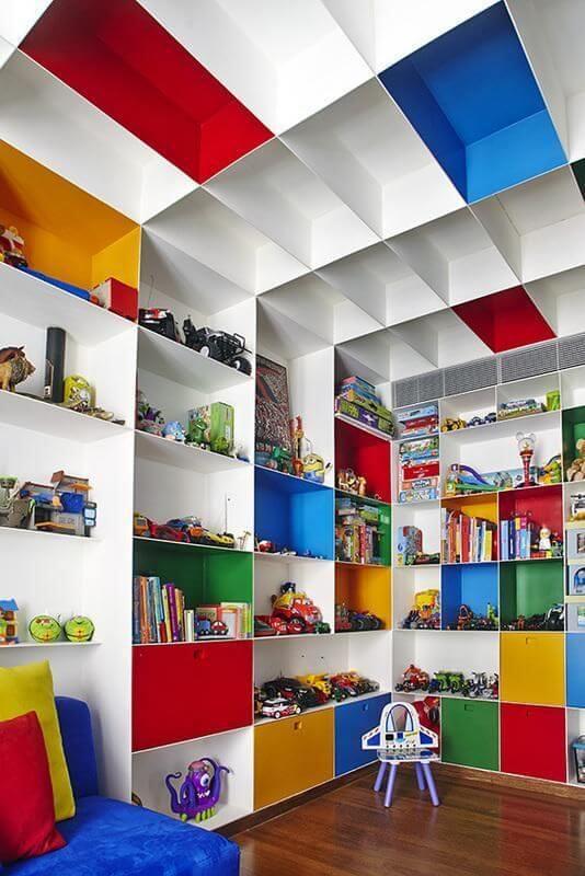 estante para brinquedos mdf pode ter as cores que você mais gosta