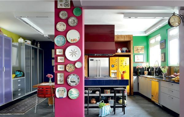 cozinha rosa fúcsia