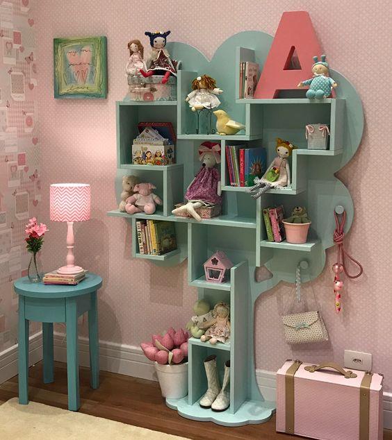 Estante para brinquedos mdf em formato de árvore