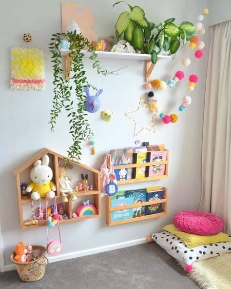 estante para quarto infantil montessoriana