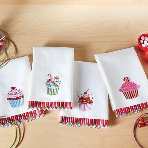 Faça lindos bordados para seu pano de prato