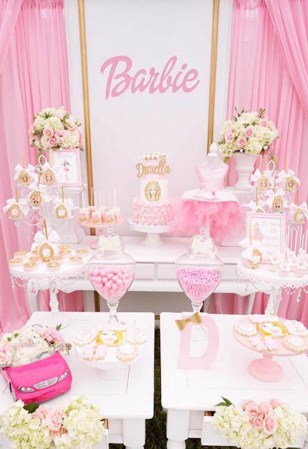Festa da barbie cor de rosa