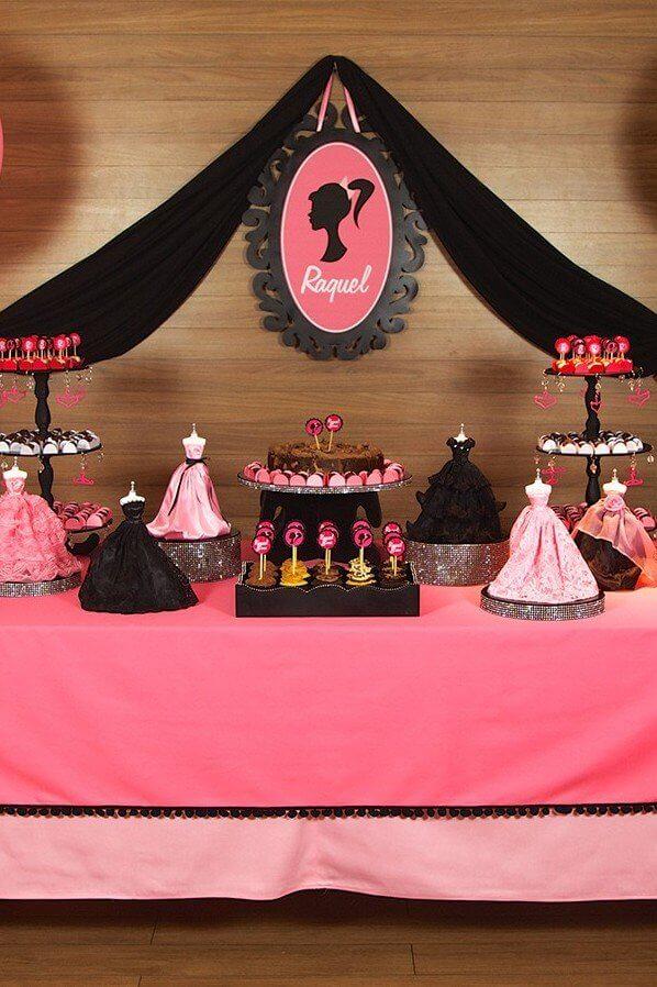 Detalhes lindos da festa da barbie