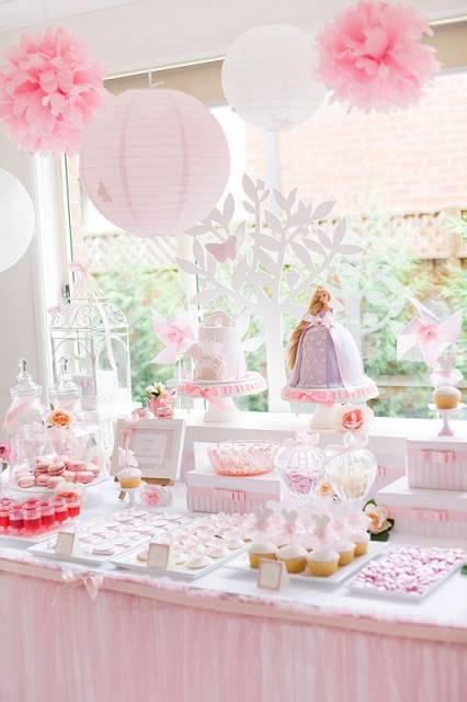 Festa da barbie princesa delicada e em tons pasteis