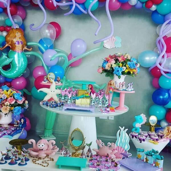 Festa da barbie sereia