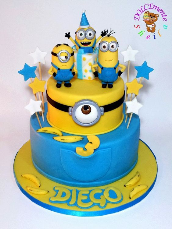 festa dos minions - bolo dos minions
