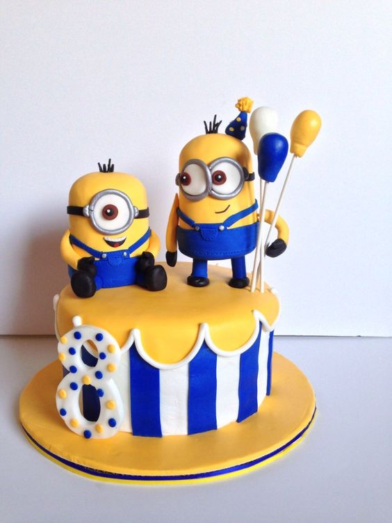 festa dos minions - bolo pequeno dos minions