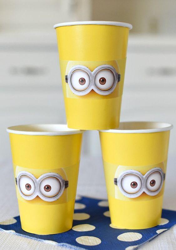 festa dos minions - copos dos minions
