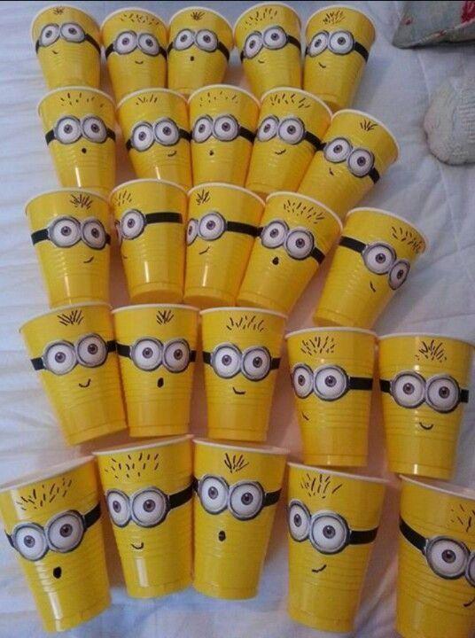 festa dos minions - copos plásticos dos minions