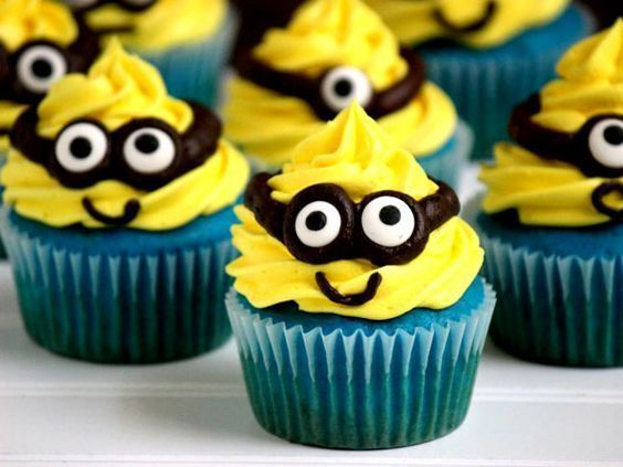 festa dos minions - cupcake dos minions