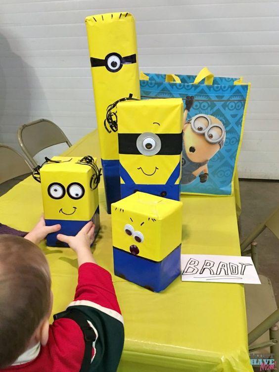festa dos minions - embalagens de presente dos minions
