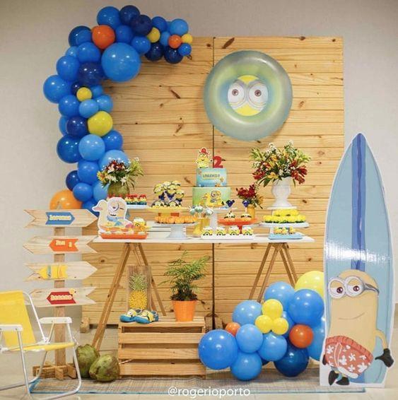 festa dos minions - festa simples dos minions