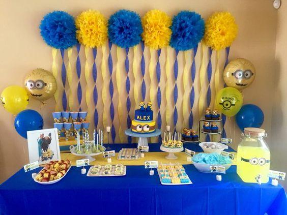festa dos minions - mesa de festas