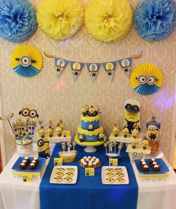 festa dos minions - mesa dos minions completa