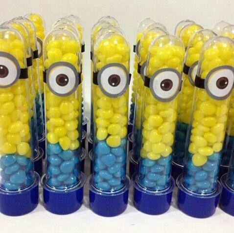 festa dos minions - potinhos de doces