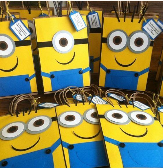 festa dos minions - sacolas de brindes dos minions