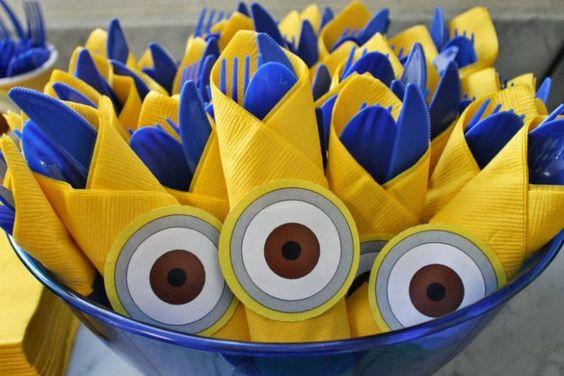 festa dos minions - talheres de festa
