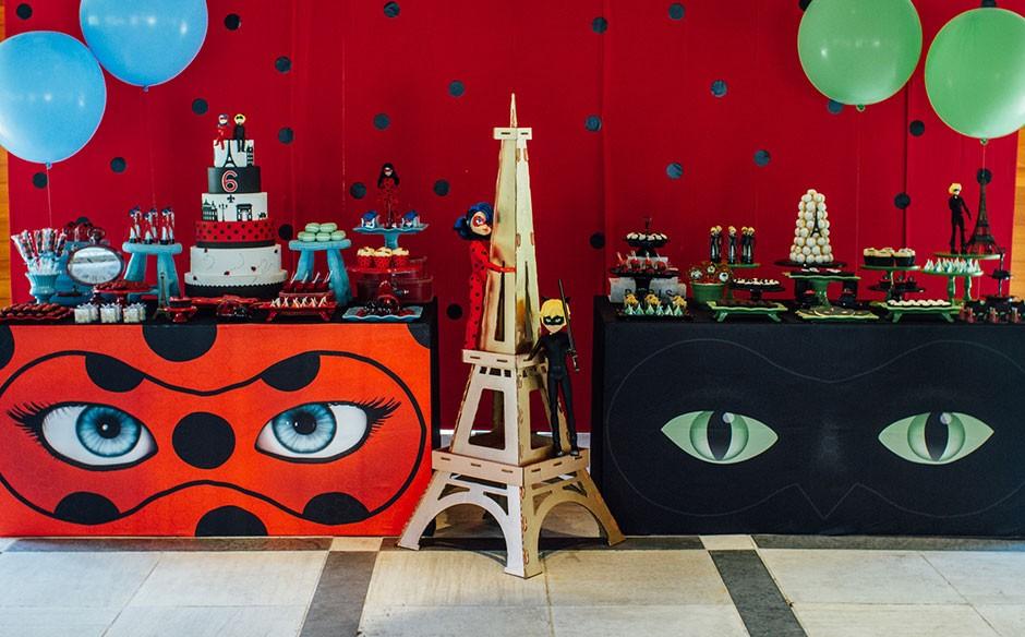 Festa para irmãos ladybug e Cat Noir