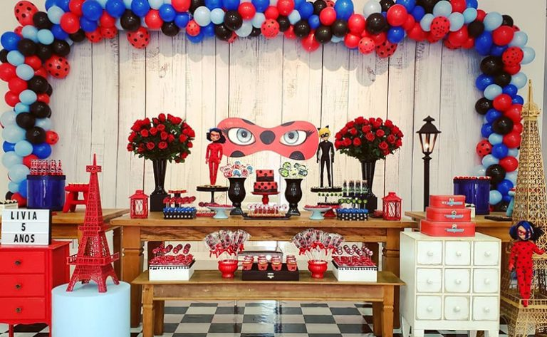 Festa ladybug miraculous e Cat Noir