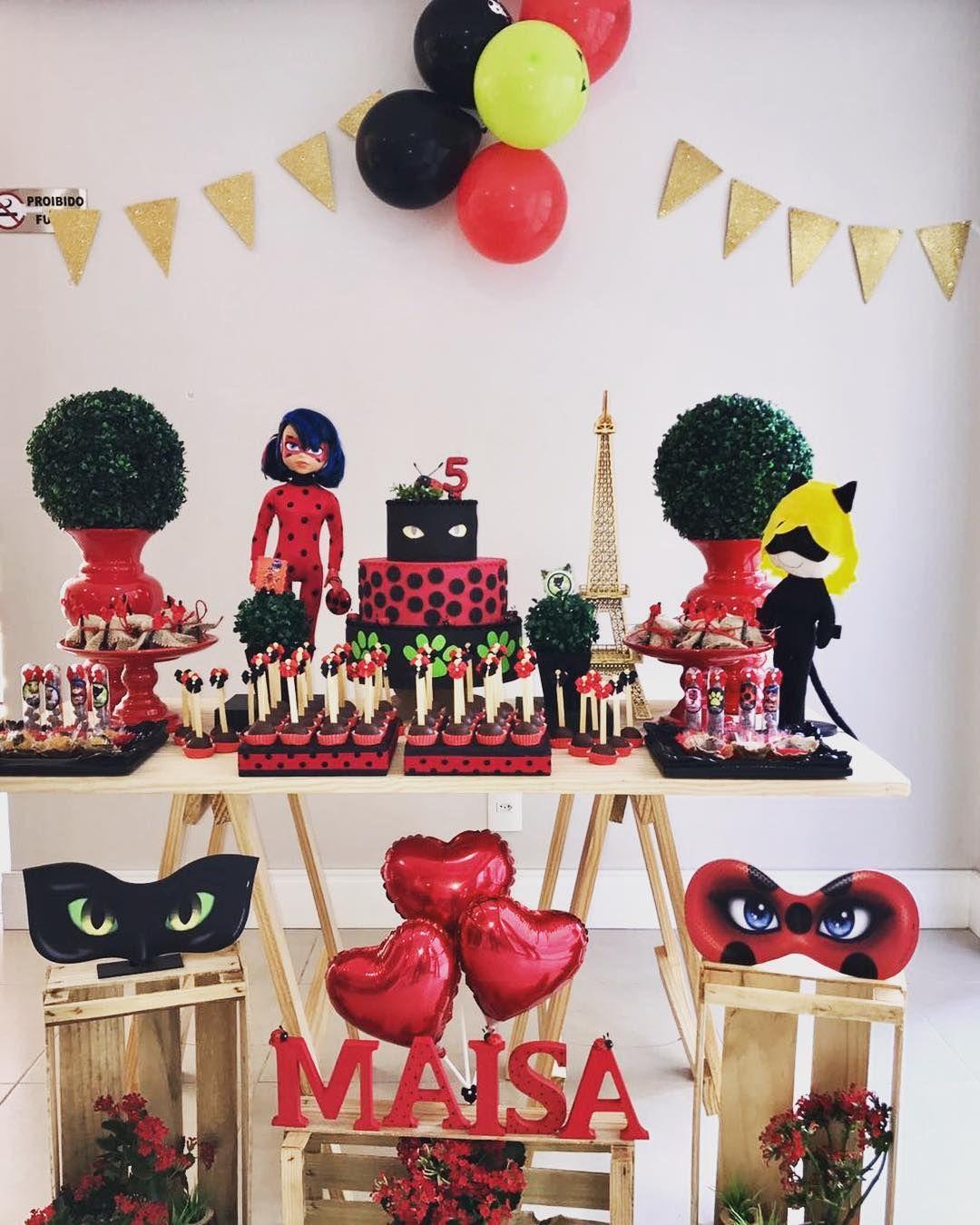 Festa ladybug simples