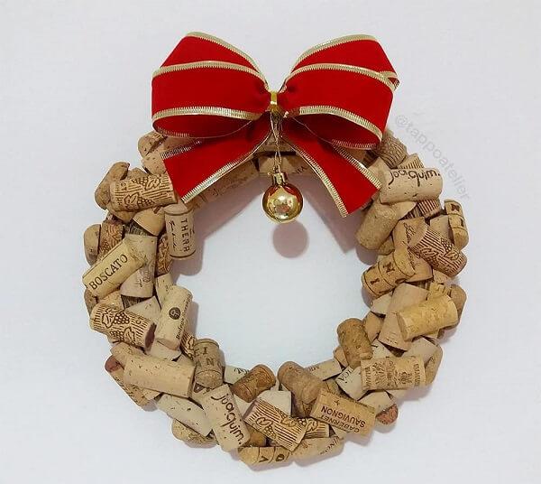 Guirlanda para Natal feita com balas de jujuba