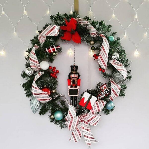 Guirlanda para Natal com soldadinho