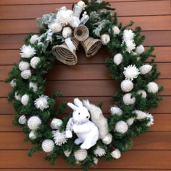 Guirlanda para Natal com coelho